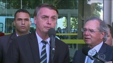 Bolsonaro e Guedes afirmam que reforma da Previdência é único caminho para crescimento - Ministro Paulo Guedes deve ir à Comissão Especial tirar dúvidas dos deputados