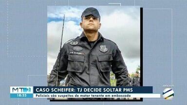 TJMT determina soltura de PMs acusados da morte do tenente Carlos Scheifer - TJMT determina soltura de PMs acusados da morte do tenente Carlos Scheifer.
