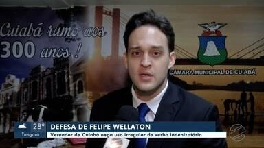 Vereador Felipe Wellaton se defende da acusação de uso irregular de verba indenizatória - Vereador Felipe Wellaton se defende da acusação de uso irregular de verba indenizatória.