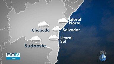 Previsão do tempo: litoral, sudoeste e Chapada Diamantina podem ter chuva nesta quinta - Altas temperaturas e baixa umidade predominam em cidades do oeste e do norte do estado.