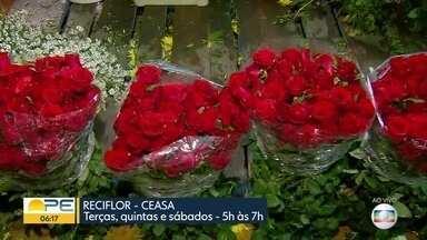 Ceasa tem feira especial de flores para o Dia das Mães - ReciFlor acontece também aos sábados, das 5h às 7h.