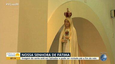 Imagem peregrina de Nossa Senhora de Fátima pode ser visitada neste mês, em Salvador - A imagem está na igreja de Nossa Senhora da Conceição de Itapuã.