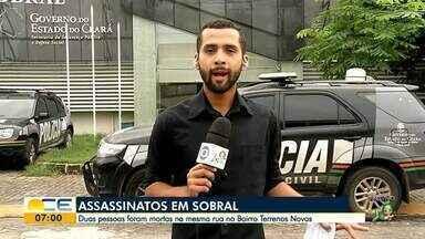 Mateus Ferreira traz as informações do plantão policial na Região Norte - Duas pessoas foram mortas na mesma rua no bairro Terrenos Novos.