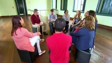 Grupo de tímidos que só se conhecia pela internet faz primeiro encontro - Participantes do grupo, que existe há sete anos, foram os personagens do Globo Repórter.