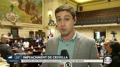 Testemunhas não comparecem e sessão que analisa impeachment de Crivella é encerrada - Testemunhas de defesa não comparecem à sessão que analisa pedido de impeachment do prefeito Marcelo Crivella na Cãmara de Vereadores.