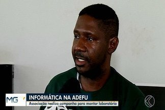 Adefu faz campanha para arrecadar materiais de informática para montar laboratório - Segundo o presidente da Associação dos Deficientes Físicos de Uberaba, Renato Delfino, objetivo de montar o laboratório é preparar os estudantes para o mercado de trabalho. Veja como doar.