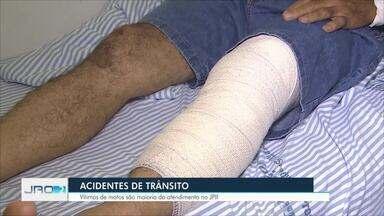 Vítimas de acidentes de moto são maioria nos atendimentos do João Paulo II em Porto Velho - Pacientes estão na categoria de atendimentos mais graves da unidade hospitalar.