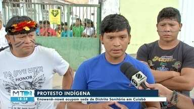 Índios ocupam sede de Distrito Sanitário para protestar em Cuiabá - Índios ocupam sede de Distrito Sanitário para protestar em Cuiabá.