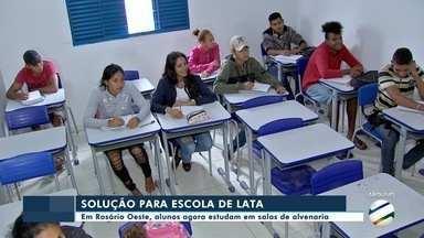 Estudantes não estão mais em escola de contêiner em Rosário Oeste - Estudantes não estão mais em escola de contêiner em Rosário Oeste.