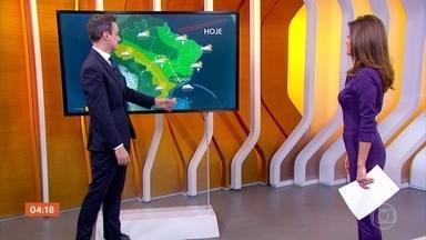 Meteorologia prevê chuva para o RJ e ES nesta quarta - O frio chegou a São Paulo. É a primeira massa de ar frio com a cara de outono chegando no Sudeste.