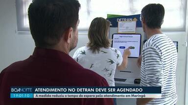 Agendamento online no Detran diminuiu tempo de espera pelo atendimento - Serviço começou a ser realizado em Maringá no dia 6 de maio.