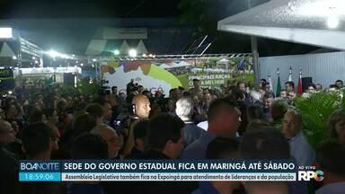 Governador Ratinho Júnior chega à Maringá - Até o fim da semana, sede do Governo do Estado será transferida para Maringá