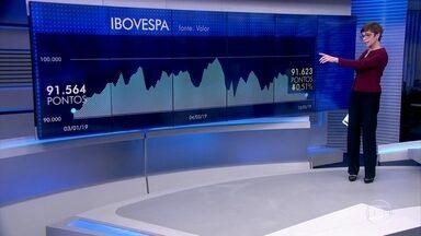 Bolsa volta ao nível do início de janeiro e dólar encosta em R$ 4 - Dia turbulento no mercado financeiro teve dados negativos da economia brasileira.