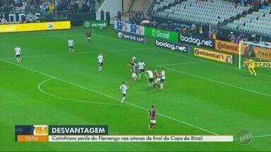 Corinthians perde em casa para o Flamengo e sai em desvantagem na Copa do Brasil - Time carioca derrotou o Timão por 1 a 0 em Itaquera e largou na frente pelas oitavas de final da Copa do Brasil.