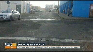 Asfalto ruim em dois endereços passam por conserto em Franca, SP - Problemas ficavam no bairro Vila Formosa.