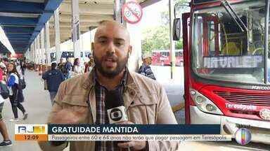 Passageiros entre 60 e 64 anos não terão que pagar passagem em Teresópolis - Segundo Prefeitura, cartões foram desbloqueados às 4h desta quinta (16).