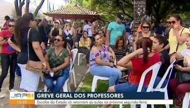 Em Macapá acontece uma greve geral dos professores - Escolas do Estado só retomam as aulas na próxima segunda-feria.