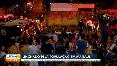 Em Manaus, homem é linchado após cometer assalto - Homem morreu com reação de populares.