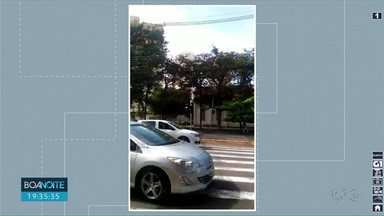 Semáforo quebrado deixam pedestres com medo de atravessar avenida em Londrina - Problema foi registrado por telespectadora no semáforo de pedestre que fica no cruzamento da avenida JK com a rua Ibiporã.