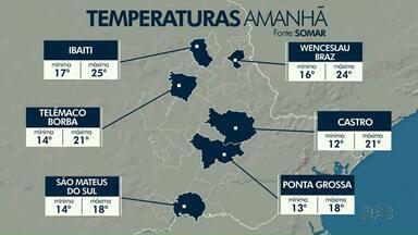 Tempo continua chuvoso e frio na região dos Campos Gerais - Confira a previsão do tempo.