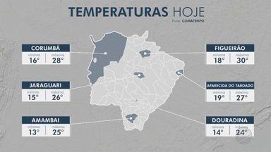 Após frente fria, MS terá fim de semana mais quente - As manhãs e noites ainda ficam geladinhas e, à tarde, esquenta.