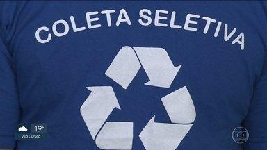 Coleta seletiva só consegue reciclar 7% dos resíduos da capital paulista - Só no ano passado, foram recolhidos mais de 76 toneladas de resíduos recicláveis na cidade.