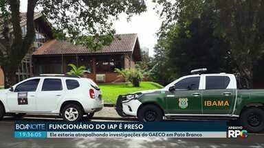 Servidor do IAP é preso em Francisco Beltrão - O servidor é investigado pelo Ministério Público, em operação que investiga prática de crimes de corrupção passiva, ativa e lavagem de dinheiro.
