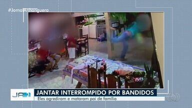 Homem joga cadeira em ladrão para proteger família durante assalto e é morto, em Caiapônia - Ladrões procuravam por cofre e conheciam rotina da família, diz polícia.
