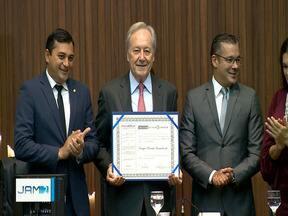 Ministro do STF Ricardo Lewandowski recebe título de Cidadão do Amazonas - Título foi concedido pois ministro tem histórico de votações favoráveis a questões relacionadas ao Amazonas, como a favor da Zona Franca de Manaus, segundo Aleam.