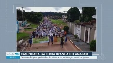 Caminhada no interior do AP pede fim do abuso e da exploração sexual de jovens - Manifestação ocorreu no município de Pedra Branca do Amapari.