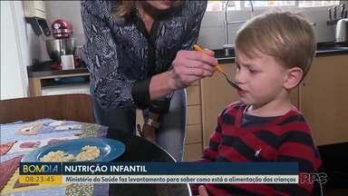 Ministério da Saúde faz levantamento para saber como está a alimentação das crianças - Objetivo é visitar 1200 casas.