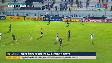 Operário perde fora de casa pela série B do Brasileirão - Time de Ponta Grossa perdeu por 1x0 da Ponte Preta.