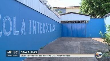 MP diz que Caic Antonio Palocci não está pronto para receber alunos em Ribeirão Preto - Os alunos estão sem aula há quase dois meses. Secretaria da Educação informou que uma equipe trabalha nas reformas do prédio durante este final de semana.