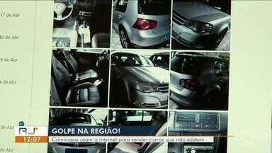 Criminosos usam internet para vender carros que não existem - Golpistas usam nome de agência de automóveis de Volta Redonda.