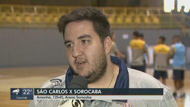 Técnico de Futsal de São Carlos fala sobre desafios da equipe - Time joga fora de casa contra o Sorocaba neste domingo (19) às 12h45.