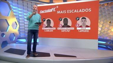 Confira os três mais escalados da rodada, no Cartola FC - Confira os três mais escalados da rodada, no Cartola FC