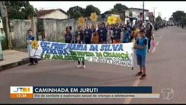 Em Juruti, caminhada marca Dia Nacional de Combate ao abuso e exploração de menores - Ato contou com a participação de estudantes, professores e representantes dos órgãos de proteção.