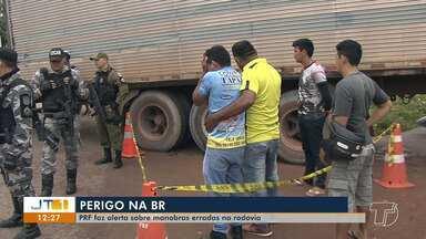 Laudo da PRF deve apontar causas do acidente que vitimou motociclista na BR-163 - Conclusão deve sair em cinco dias. Na sexta-feira (17), Washington Silva da Mota morreu após se chocar com carreta na Rodovia Santarém-Cuiabá.