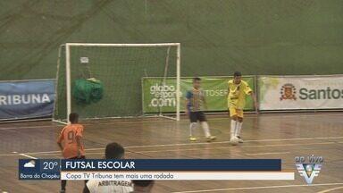 Rodada da Copa TV Tribuna de Futsal Escolar agita Ginásio do Rebouças - Torneio está na fase classificatória e tem partidas na tarde deste sábado (18).