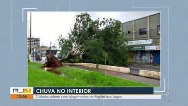 Confira imagens dos estragos causados pela chuva em várias cidades do interior do Rio - Registros mostram danos em Cabo Frio, São Pedro da Aldeia, Macaé, Rio das Ostras e Iguaba Grande.