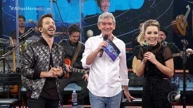 Serginho explica que plateia é formada exclusivamente por fãs de Sandy & Junior - Apresentador agradece pela presença da Família Lima