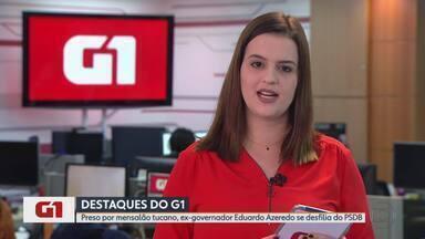 G1 no MG: Preso por mensalão tucano, ex-governador Eduardo Azeredo se desfilia do PSDB - Azeredo está preso no Batalhão do Corpo de Bombeiros, na Região Centro-Sul de Belo Horizonte, desde 23 de maio de 2018.