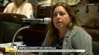 Vereadores veem contradições em depoimento de controladora-geral de Crivella - Depoimento não convenceu os vereadores da comissão de impeachment.