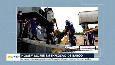 Marinha investiga explosão de embarcação em Oiapoque - Na embarcação estavam oito tripulantes.