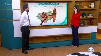Médico explica as diferenças entre vertigem e tontura - Márcio Salmito lista os sintomas e diz que a exaqueca é a causa mais comum da vertigem
