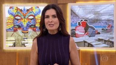 Programa de 22/05/2019 - Fátima Bernardes recebe as atrizes Leandra Leal e Cláudia Abreu . A música fica por conta de Lauana Prado