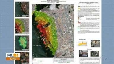 Mapa com áreas de instabilidade dos bairros atingido por rachaduras chama atenção - Publicação ocorreu na terça-feira
