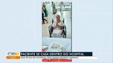 Paciente com aneurisma casa no hospital - Confira mais notícias em g1.globo.com/ce