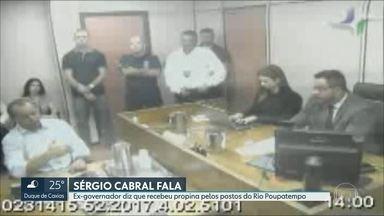 Sérgio Cabral presta novo depoimento e admite ter recebido milhões em propina - Ex-governador afirmou que recebeu mais de 7 milhões em propina do empresário Georges Sadala, que administrava postos do Rio Poupatempo.