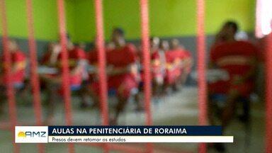 Em Roraima, presos devem retomar aulas em escola dentro de penitenciária - Local foi reconstruído com ajuda de detentos.